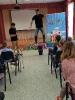 Артисты Росгосцирка эквилибристы на першах Саралаевы и клоун Alex посетили наш детский дом_19
